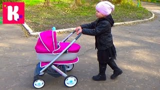 ������� ��� ����� ������������� �������� ������ ������ ������ Baby doll stroller unboxing wolking