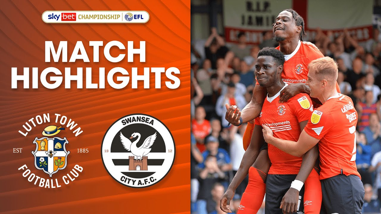 Download Luton Town 3-3 Swansea City Championship Highlights