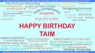 Taim   Languages Idiomas - Happy Birthday