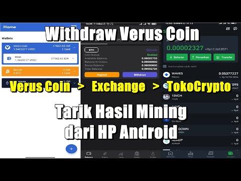 Cara Withdraw Verus Coin ke TokoCrypto