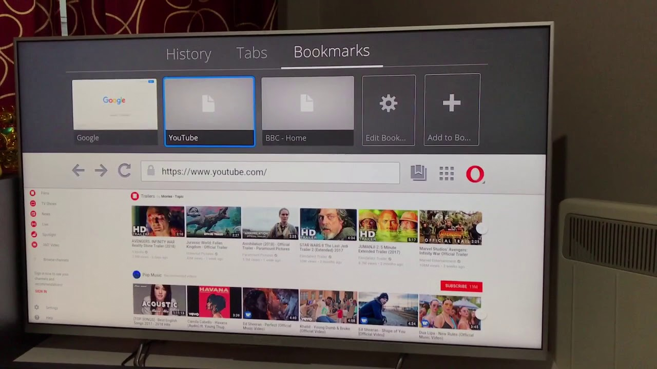 Opera TV web browser for Android tv | Smart TV Web Browser | TV Internet  browser | Web Surfing