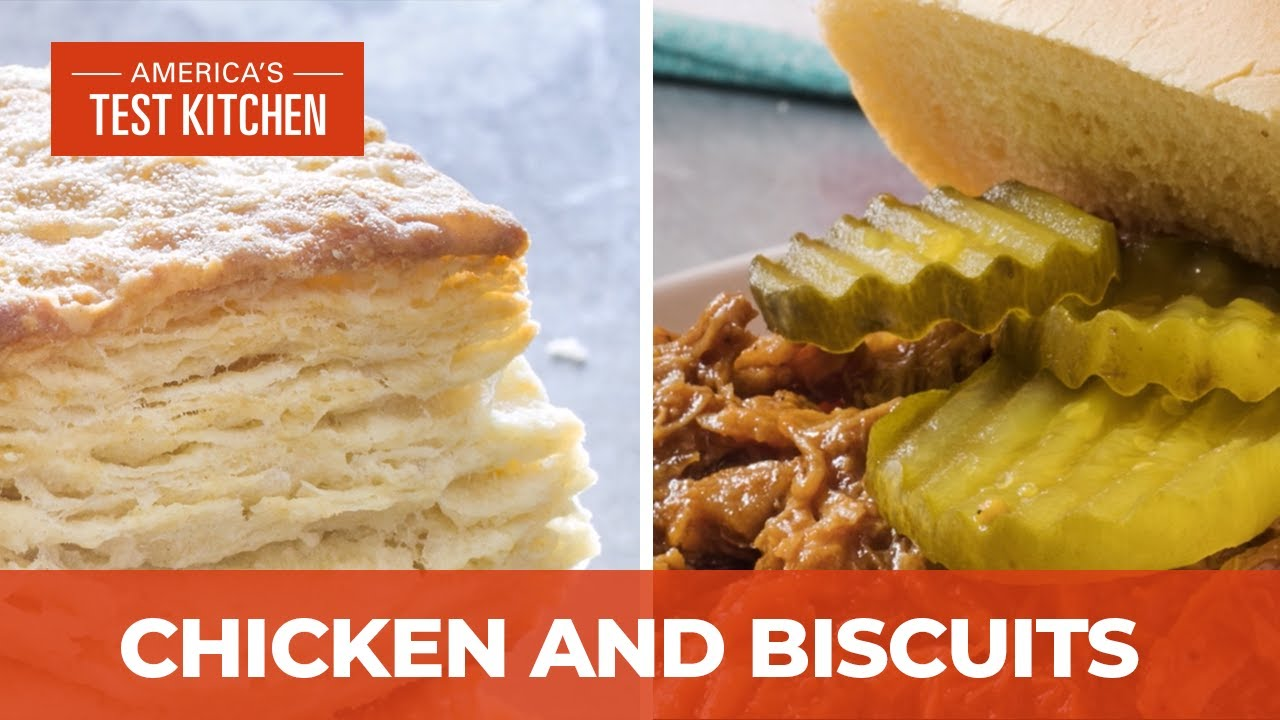 How To Make Indoor Pulled Chicken And The Ultimate Flaky Buttermilk Biscuits Youtube