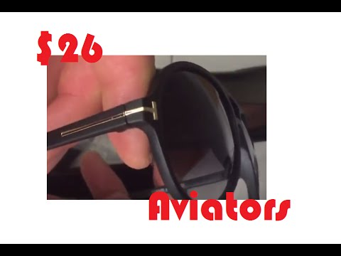 71f863a266 Aliexpress Unboxing   26 Tom Ford Jared Plastic Aviator Sunglasses ...