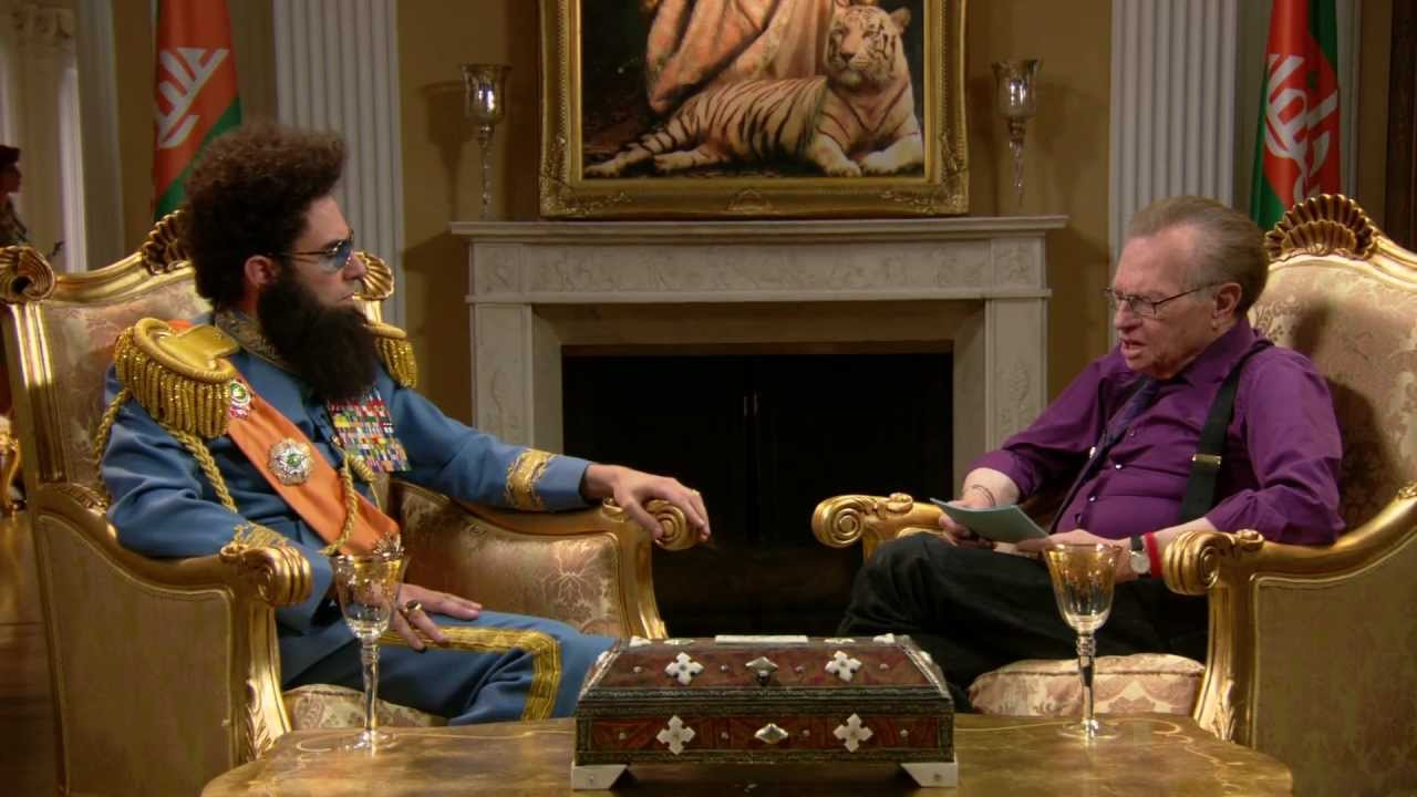 THE DICTATOR - Larry King Interview - YouTube