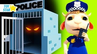 New 3D Cartoon For Kids  Dolly And Friends  Johny Police Jail Playhouse Toy 101