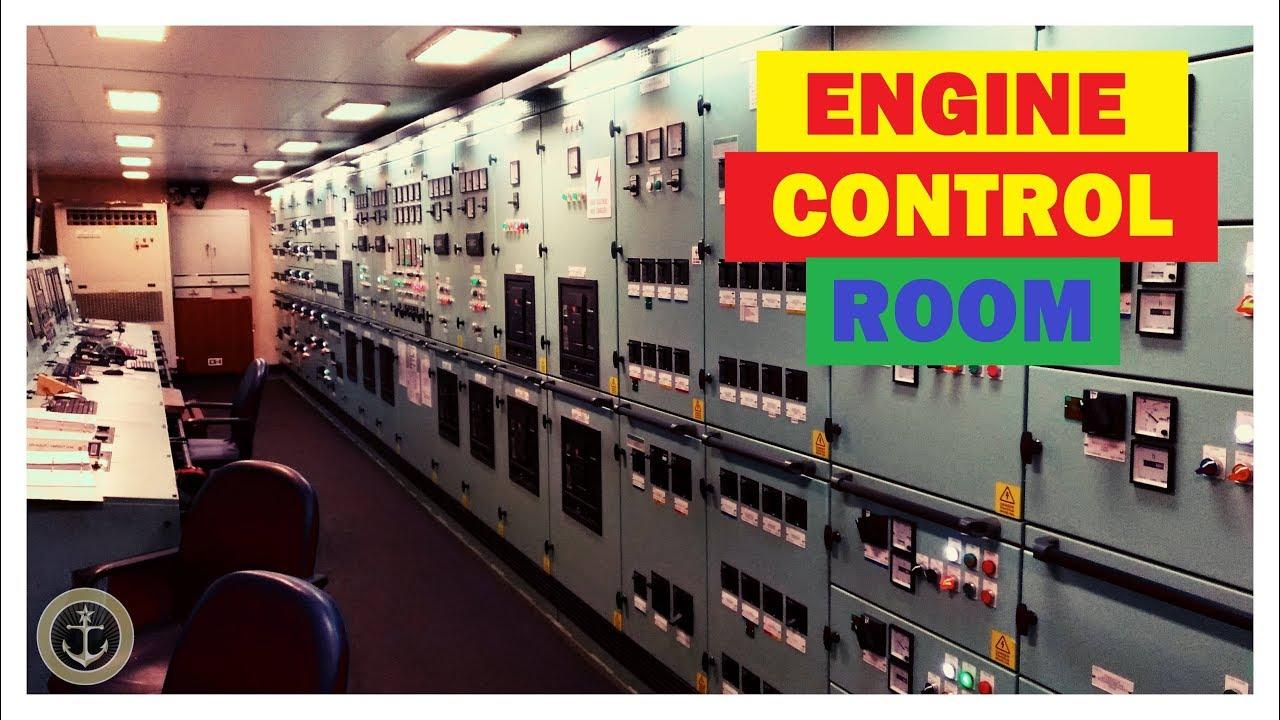 Camera de comanda a unui vapor. Sala motoarelor