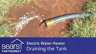 electric water heater maintenance draining the tank
