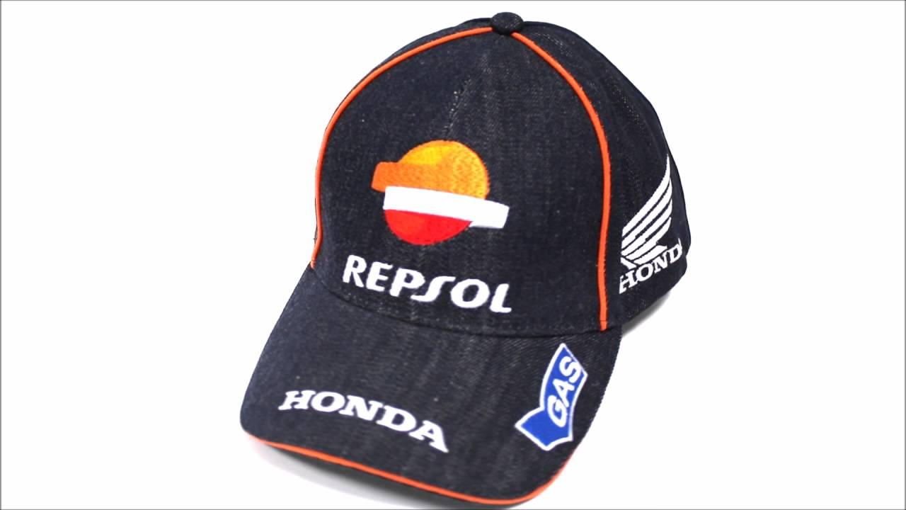 Gorra Repsol Honda HRC Gas Oficial Denim - YouTube 6d1650725f1