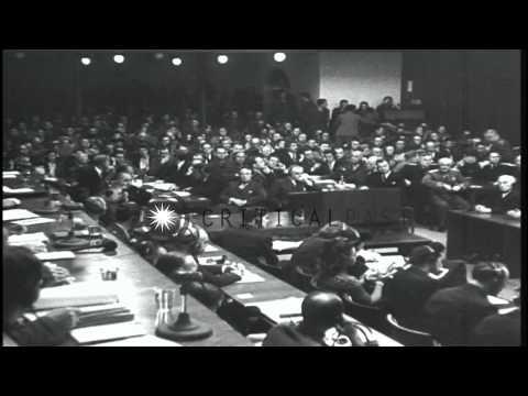 Nazi leaders at Nuremberg trials in Germany HD Stock Footage