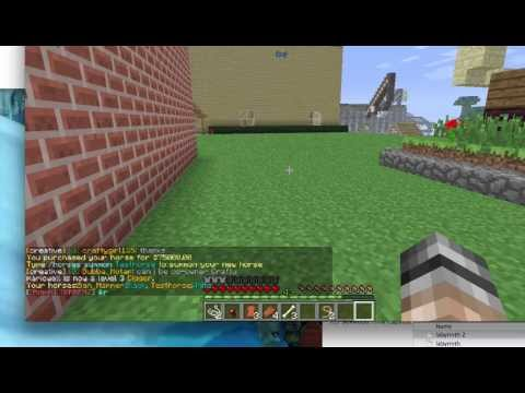 A Quick Look At The Horses Bukkit Plugin In Use On Towncraft Minecraft Server