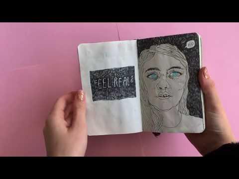 Art journal flip through (June-November)