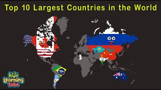 Top 10 Largest Countries in the World/10 Biggest Countries in the World