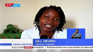 Hockey National Team Captain Gill Okumu keeping fit while in self-isolation