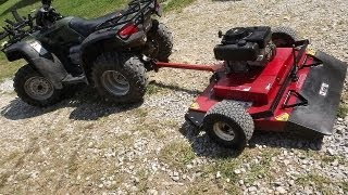 Mowing With An ATV And Swisher 44