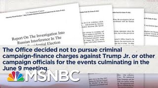 Ari Melber: Why Robert Mueller Did Not Charge Donald Trump Jr. | The Beat With Ari Melber | MSNBC