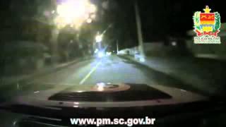 Perseguição capotamento Polícia Militar Jaraguá do Sul [ORIGINAL]