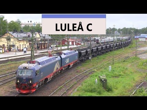 Luleå Järnvägsstation och stadsbild.