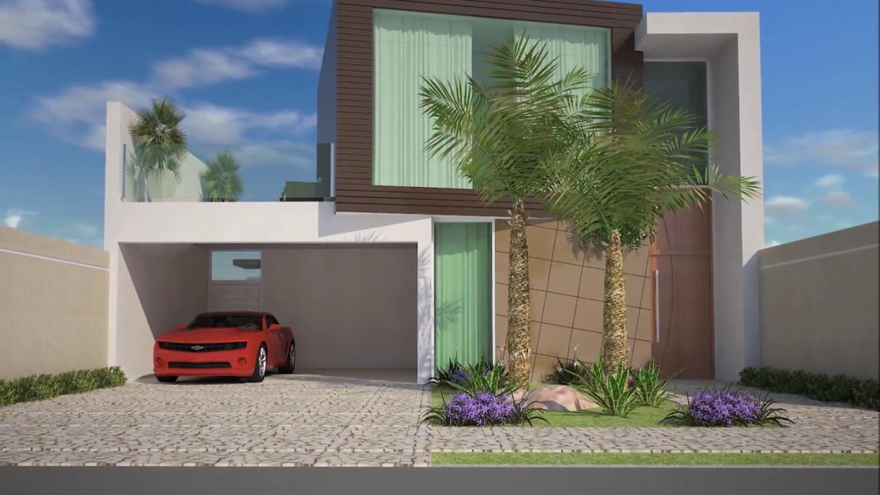 projeto casa terrea mezanino moderna terreno 12x30