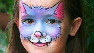 Repeat youtube video Katze schminken - Kätzchen Kinderschminken Vorlage & Anleitung