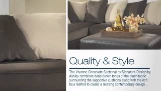 Vivanne Chocolate Laf Sectional From Ashley