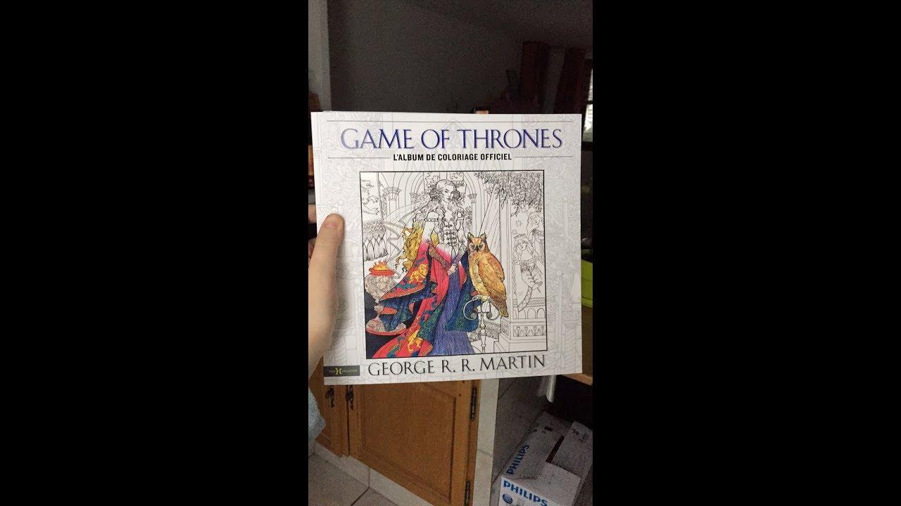 Présentation Livre Game Of Thrones Youtube