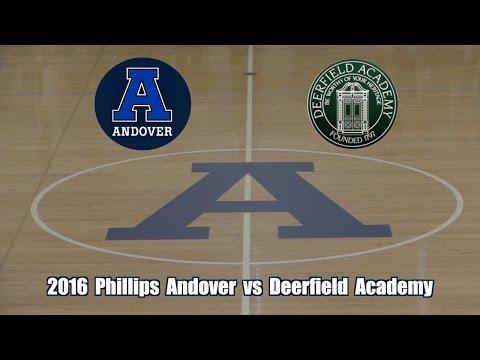 2016 Phillips Academy Andover Basketball vs Deerfield Academy