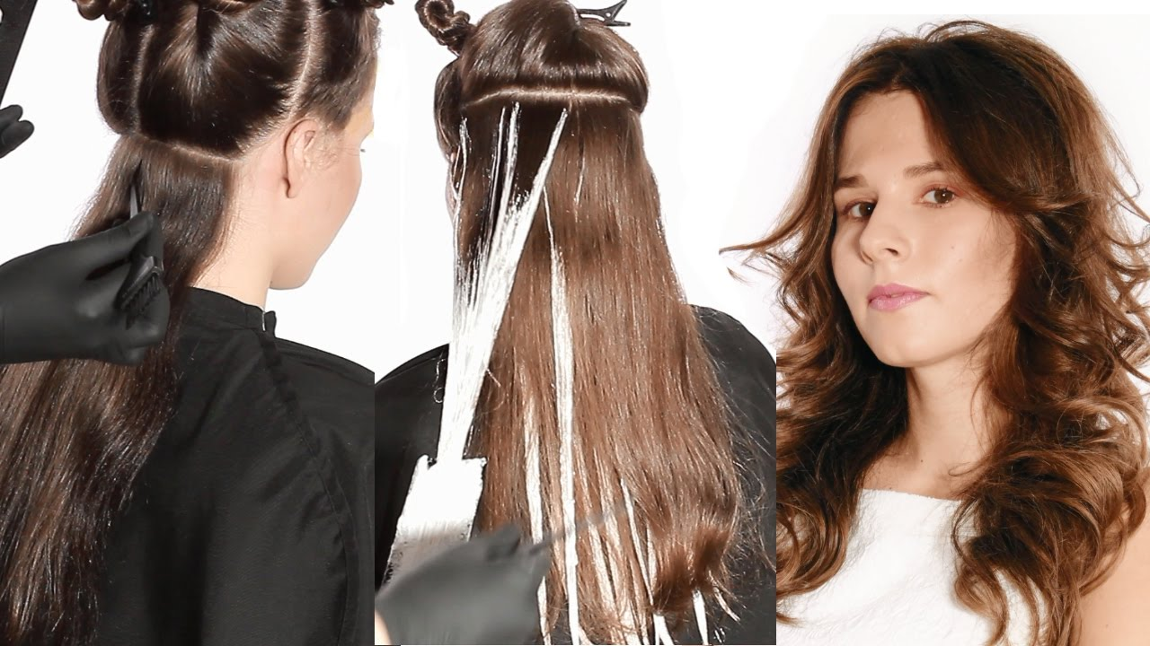 Coloration Des Cheveux Balayage Tutorial Youtube