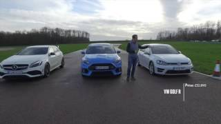 Focus RS vs A45AMG vs Golf R drag race(, 2016-03-07T11:00:37.000Z)