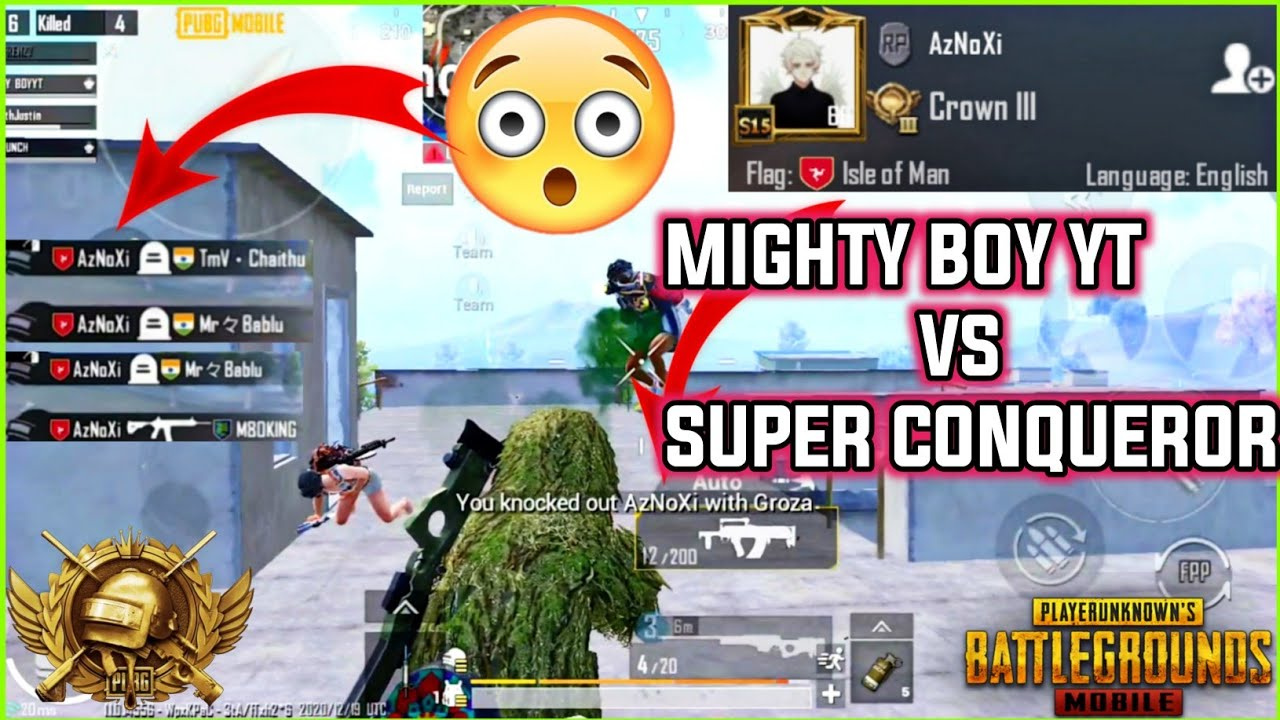 How I Killed A Best Conqueror Player in PUBG MOBILE -Zero Damage #Pubgmobile #Shorts #mightyboyyt