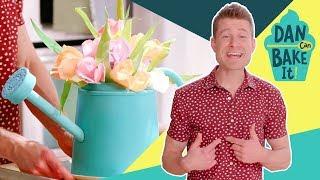 Flower Bouquet Cake 💐 DAN CAN BAKE IT CHALLENGE #2