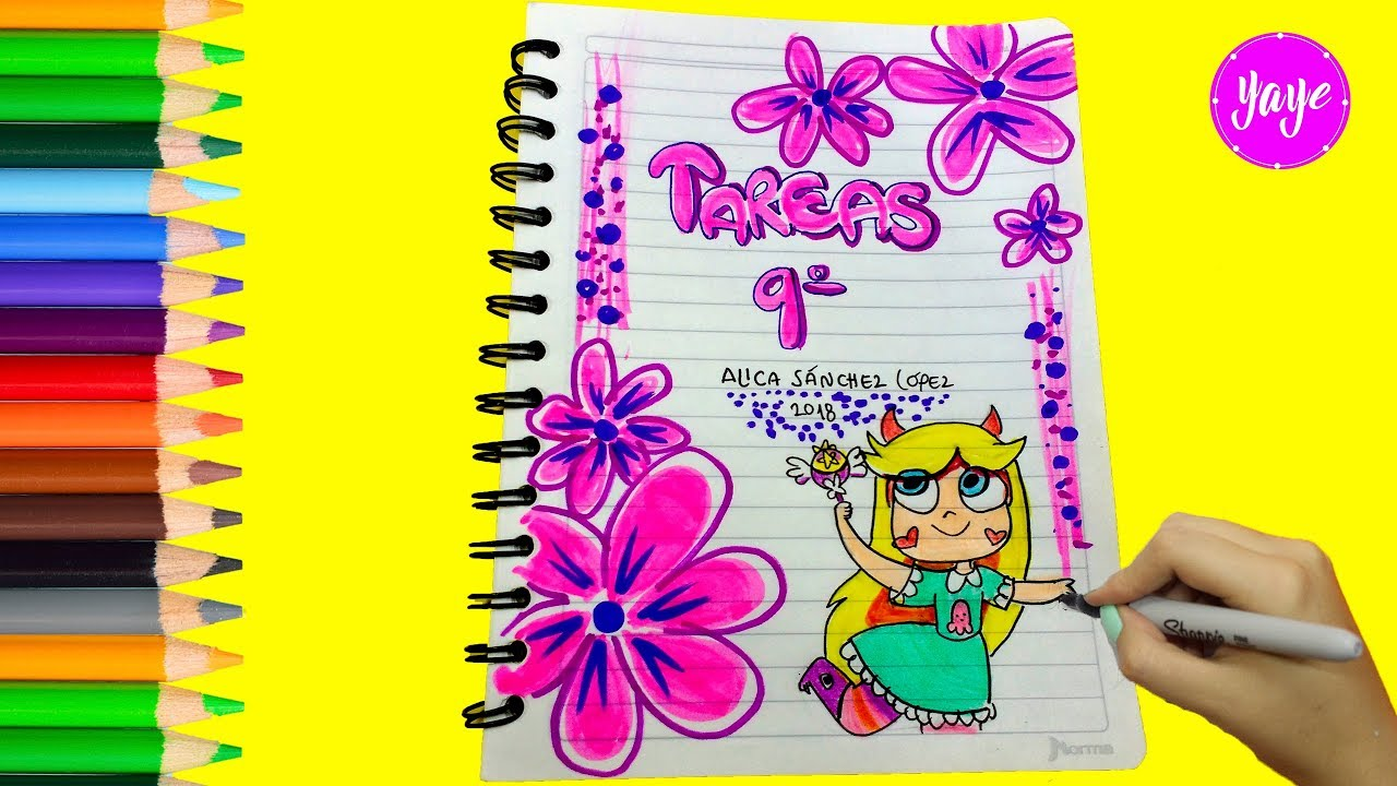 Dibujos Para Portadas De Cuaderno: IDEAS PARA MARCAR CUADERNOS-Regreso A Clase-Cómo Dibujar