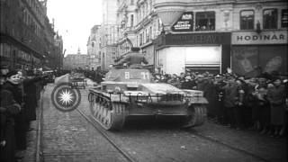German troops invade Moravia, Czechoslovakia during World War II. HD Stock Footage