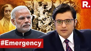 PM Narendra Modi's Emergency Reminder To Congress | The Debate With Arnab Goswami
