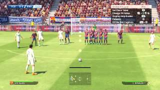 PES 2015 free kick tutorial : How to convert a free kick in PES 2015