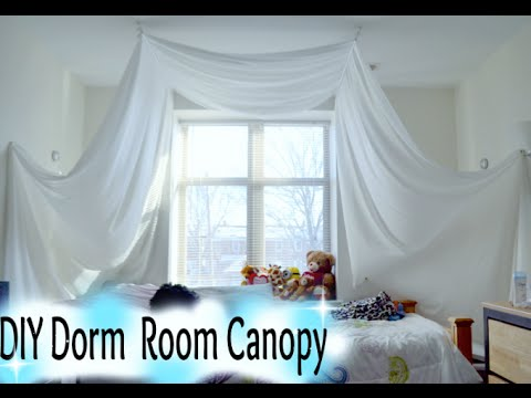 DIY Dorm Room Canopy Tutorial & DIY: Dorm Room Canopy Tutorial - YouTube