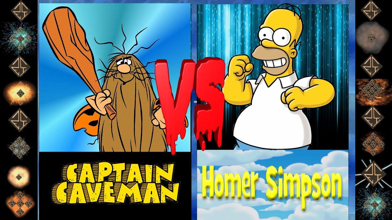 Download Captain Caveman (Hanna-Barbera) vs Homer Simpson (The Simpsons) - Ultimate Mugen Fight 2016