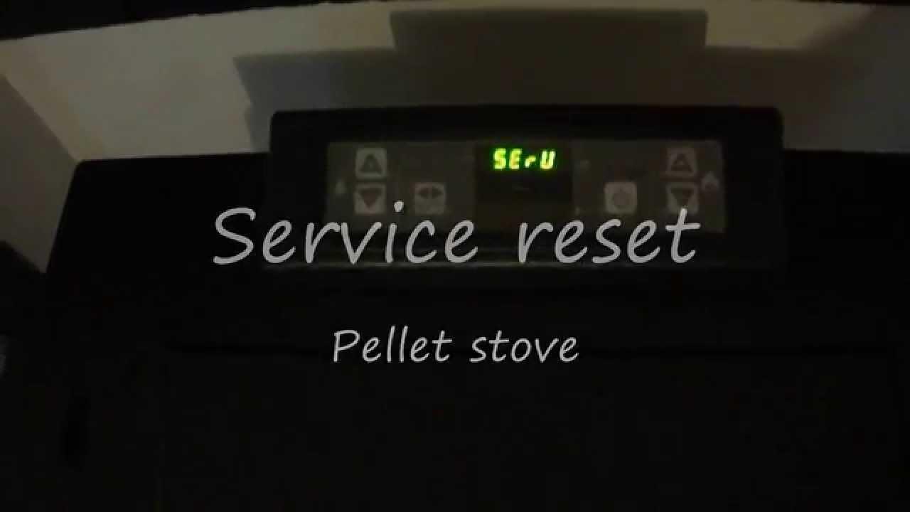 Service reset pellet stove - YouTube