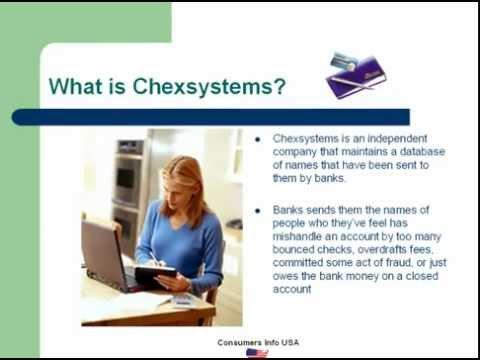 CHEXSYSTEMS | CHECKING ACCOUNT ALTERNATIVE