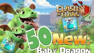 Clash Of Clans - 30 BABY DRAGONS! W/ Clone Spells!! (Air Raids On TH11) NEW UPDATED