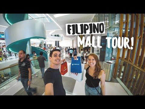 Filipino Malls Are CRAZY HUGE! - SM Seaside Cebu Mall Food Tour & Shopping (Philippines)