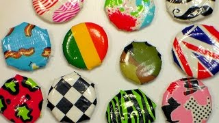 DIY Flair Magnets or Pins {Craft Tutorial With My Daughter Lila!}