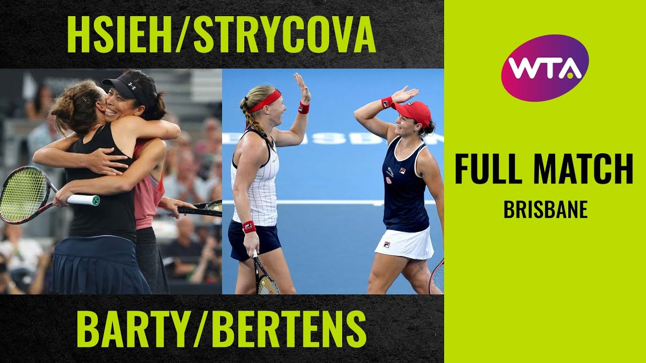 Hsieh/Strycova vs. Barty/Bertens | Full Match | 2020 Brisbane Doubles Final