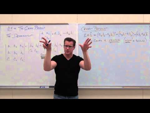 Calculus 3 Lecture 11.4:  The Cross Product