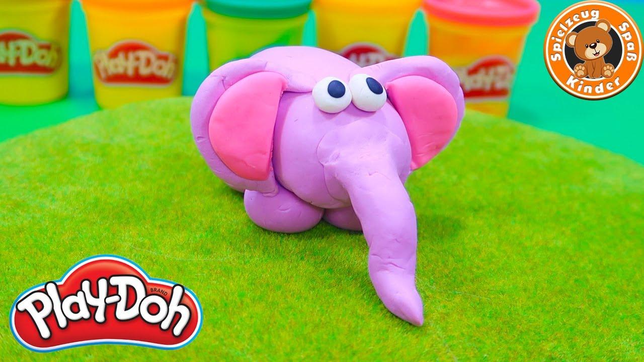 PLAY-DOH Elefant basteln 🐘 mit Knetmasse & Knete spielen   Kinder Spielzeug