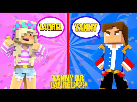 YANNY OR LAUREL - LITTLE LEAH & LITTLE DONNY HAVE A BIG FAMILY FIGHT!!!Minecraft