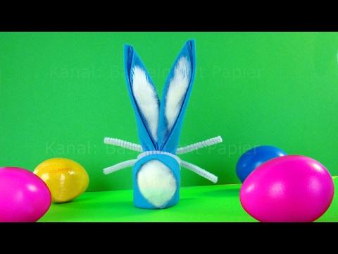 Osterhasen basteln - DIY Osterdeko - Osterbasteln - Origami Hasen basteln für Ostern