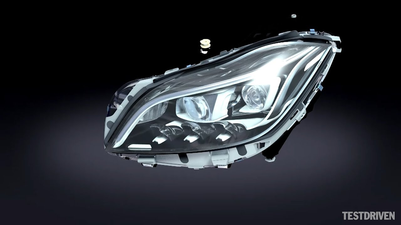 Mercedes benz multibeam led headlights youtube for Mercedes benz aftermarket headlights