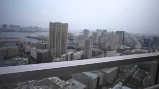 キャピタルマークタワー41階高層階からのお台場、レインボーブリッジ方面の眺望