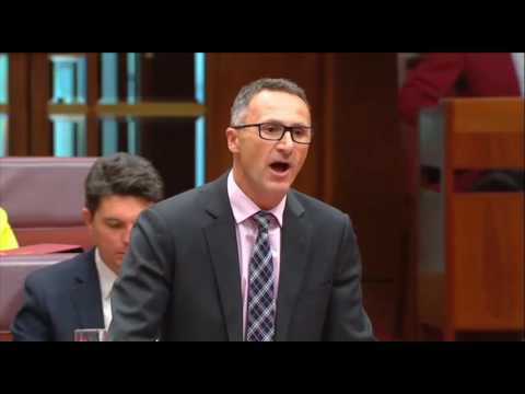 Richard Di Natale responds to Cory Bernardi's resignation from the Liberal Party