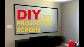 "120"" DIY PROJECTOR SCREEN"